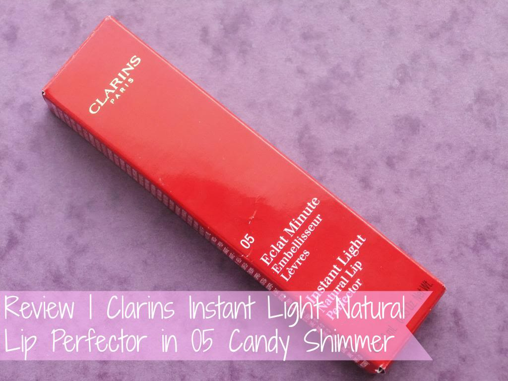 Review Clarins Instant Light Natural Lip Perfector In 05