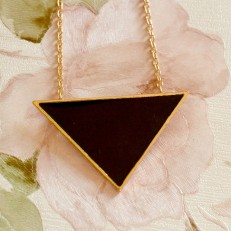 Black Triangle Pendant Necklace