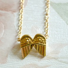 Dainty Gold Coloured Angel Wings Necklace