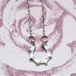 Dainty Silver Coloured Clavicle Necklace