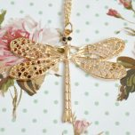 Gold Coloured Dragonfly Necklace