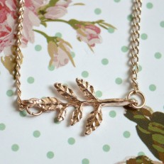 Gold Coloured Leaf Necklace