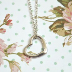 Silver Coloured Heart Necklace