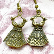 Vintage Style Dress Drop Earrings