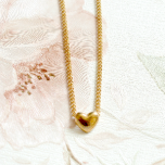 Gold Coloured Heart Necklace