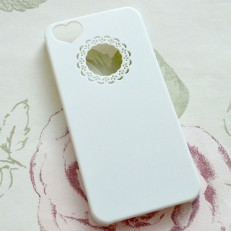 iPhone 5 Cute White Heart Case
