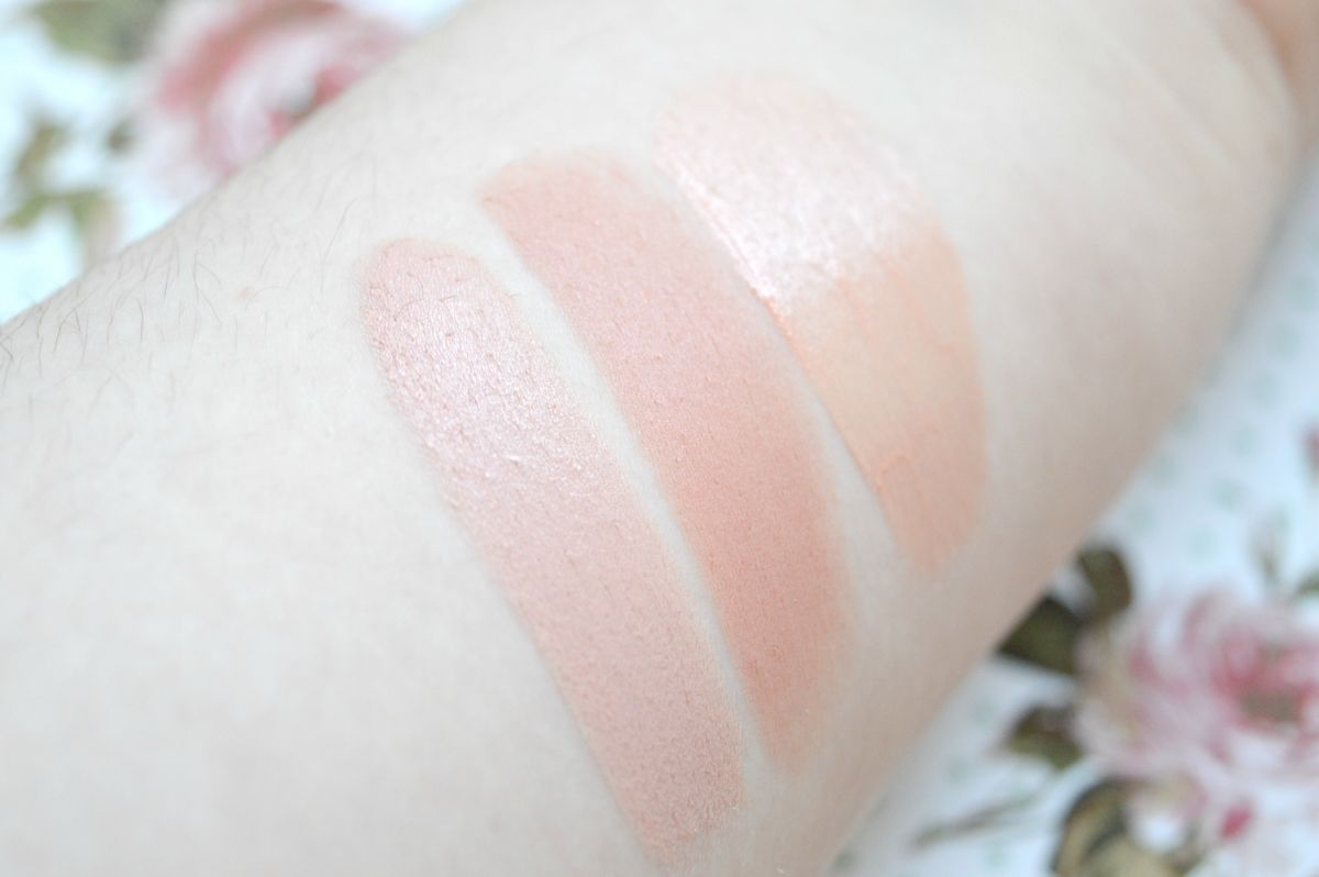 3 Pretty Nude Lipsticks For Pale Skin | ELF Mineral Lipstick in Natural Nymph, Makeup Revolution Amazing Lipstick in The One and Makeup Revolution Lip Cream in Move Your Mouth Forever Swatches