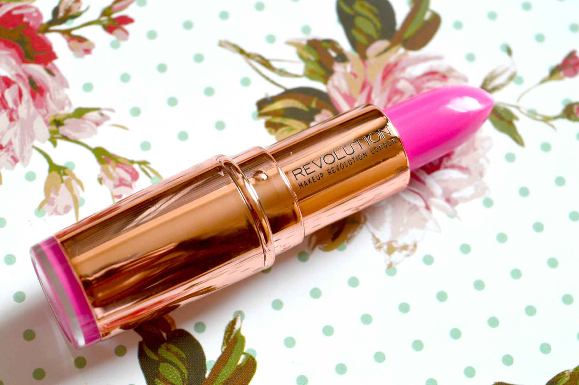 Makeup Revolution Rose Gold Lipstick in Girls Best Friend