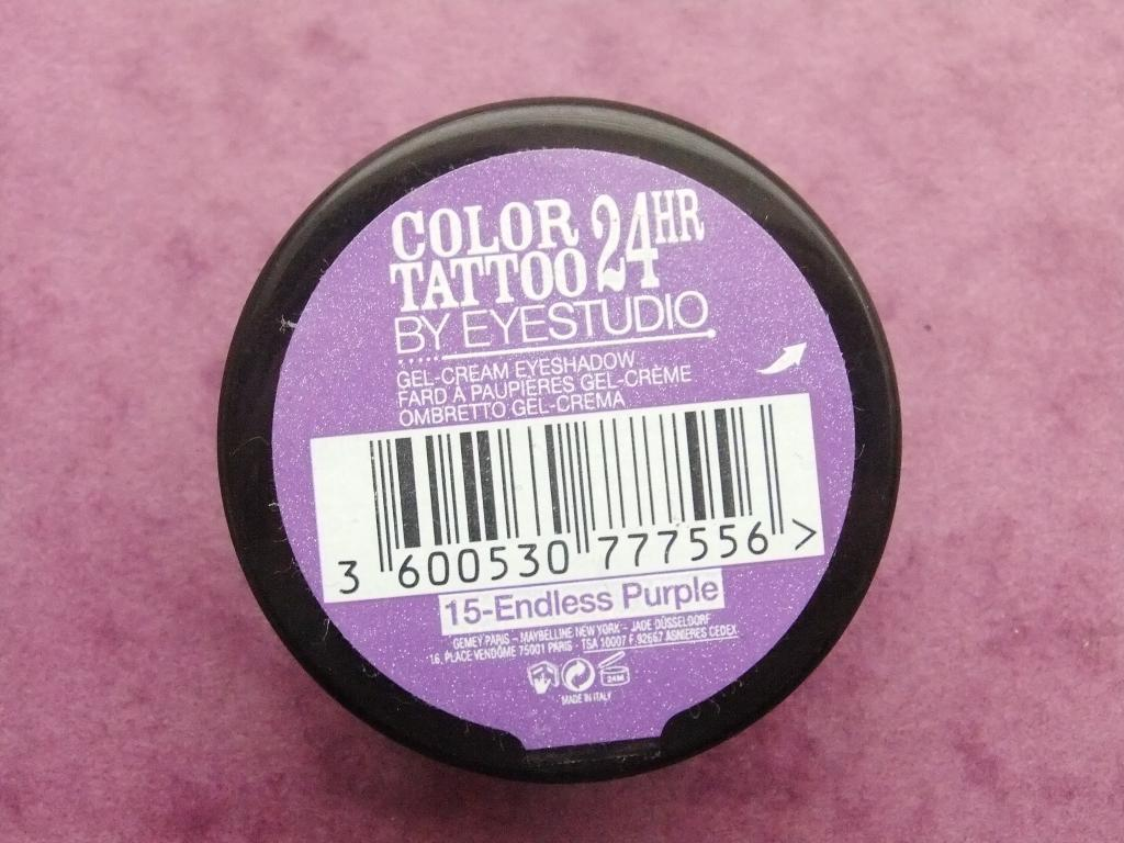 Review | Maybelline 24HR Color Tattoo in 15 Endless Purple