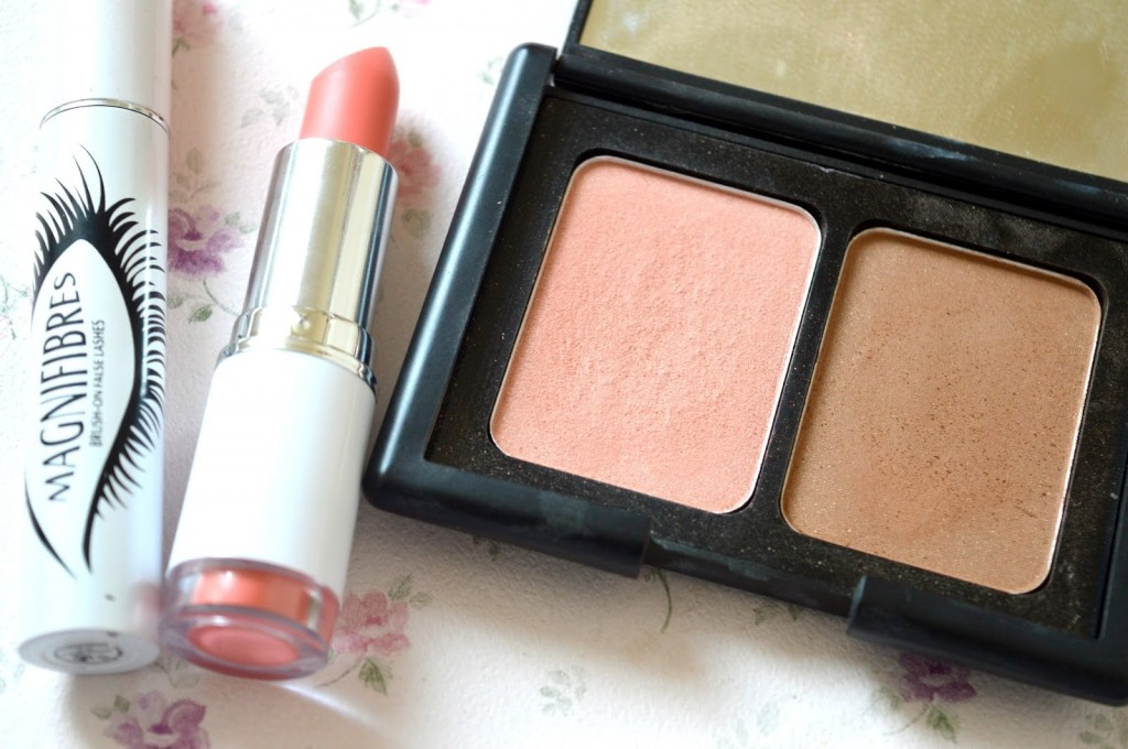 3 Products I Have Fallen Out Of Love With | Magnifibres Brush On False Eyelashes, MUA Matte Lipstick in Peachy Keen and ELF Studio Contouring Blush and Bronzing Powder in St Lucia