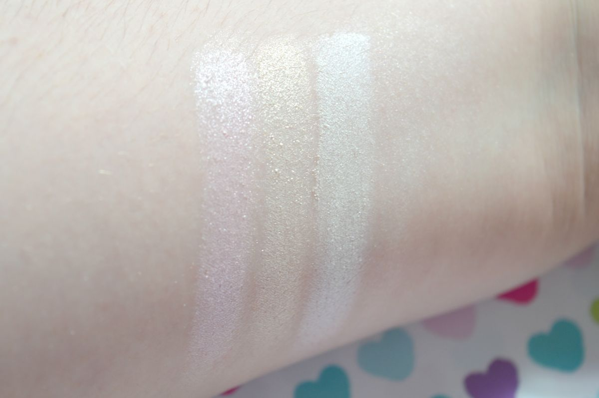3 Amazing Highlighting Eyeshadows That Will Make Your Eyes Pop Swatches