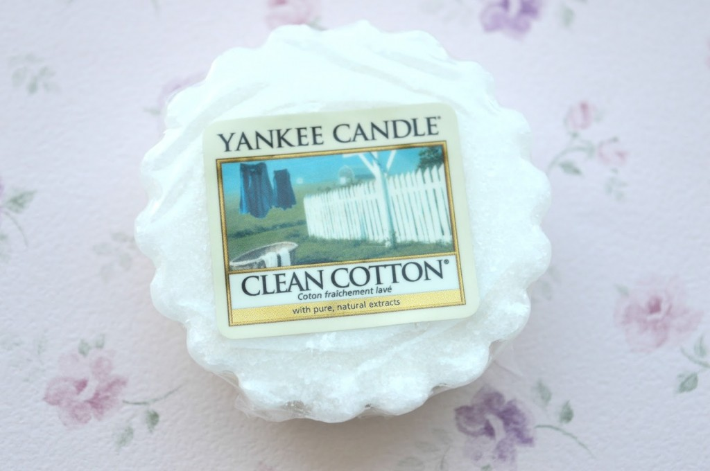 Review | Yankee Candle Clean Cotton Wax Tart