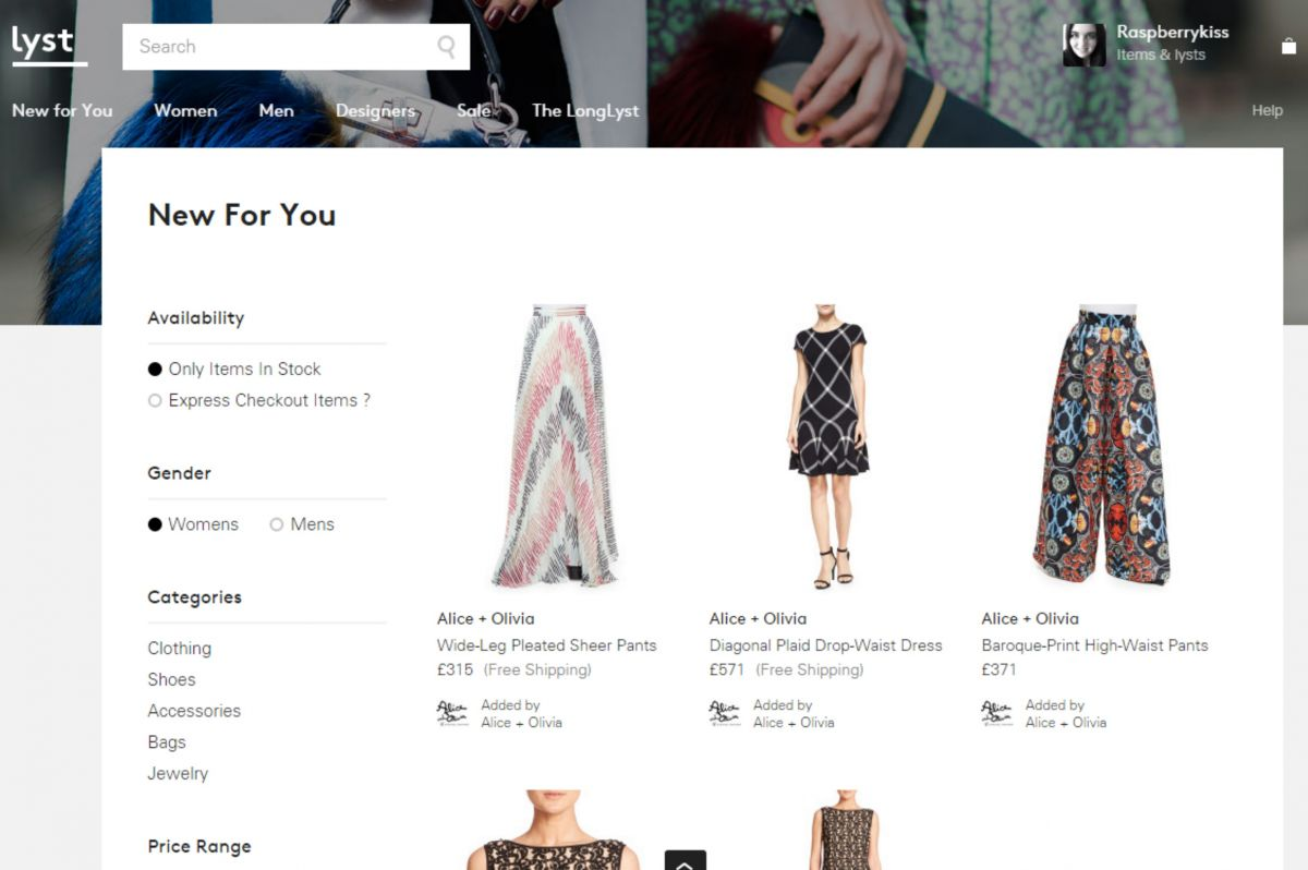 Lyst - Fashion Brands In One Place