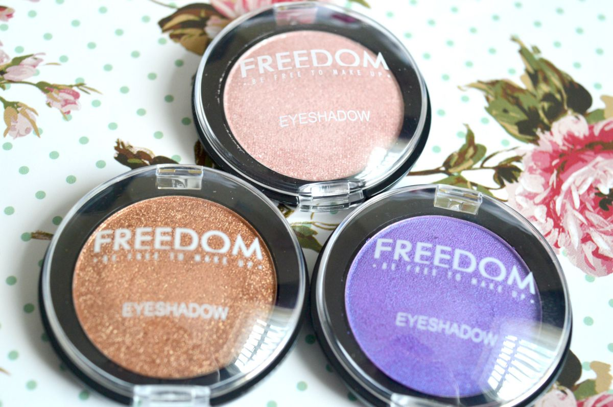 Freedom Makeup Eyeshadows in 217, 216 and 230