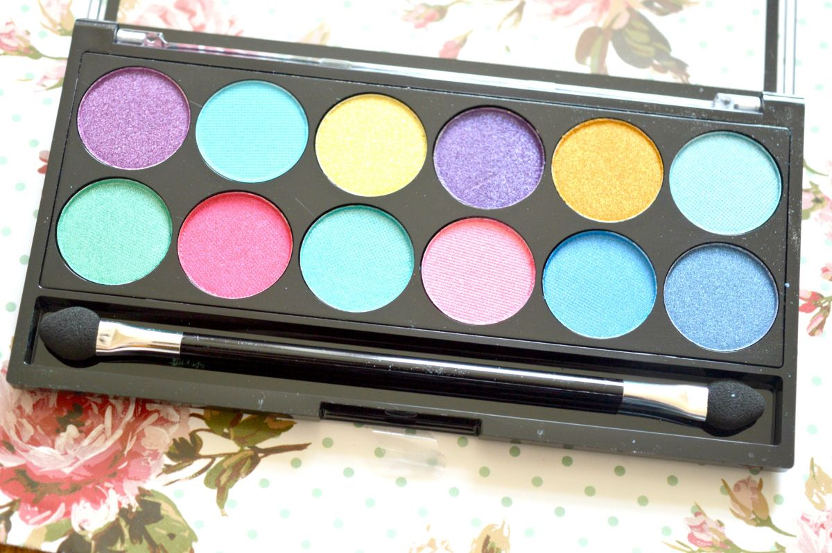 MUA Poptastic Eyeshadow Palette Review and Giveaway