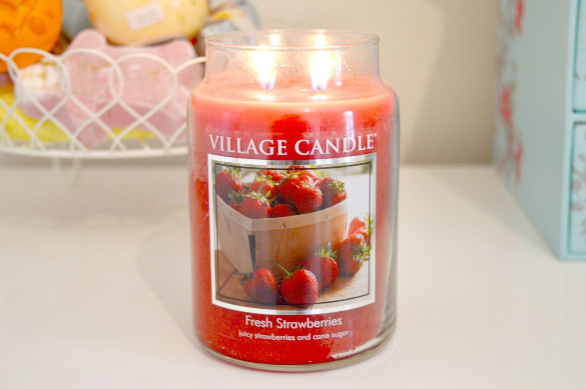 Fresh Strawberries Village Candle Review