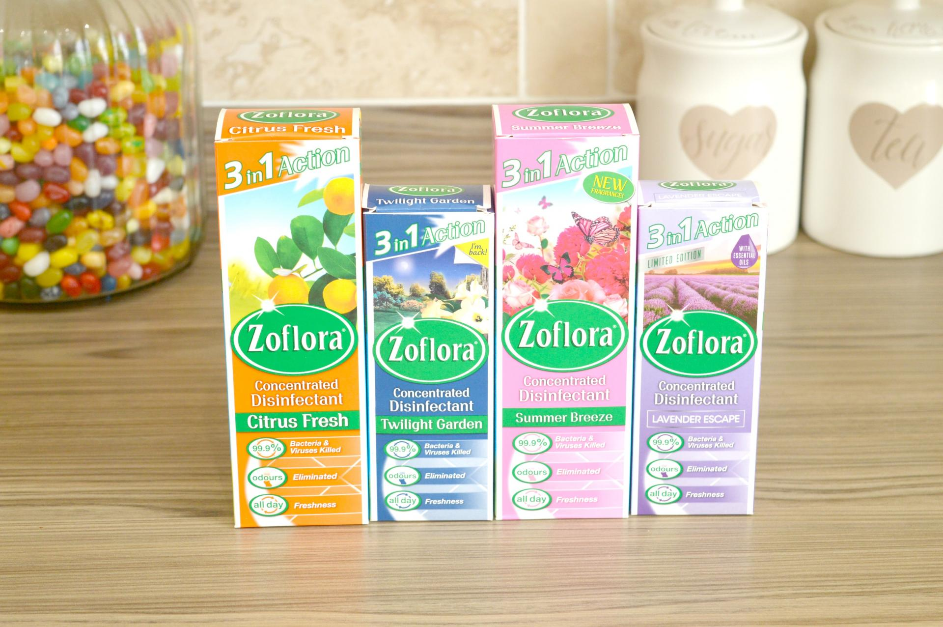 4 Really Exciting Zoflora Scents I Tested Recently - Citrus Fresh, Twilight Garden, Summer Breeze and Lavender Escape