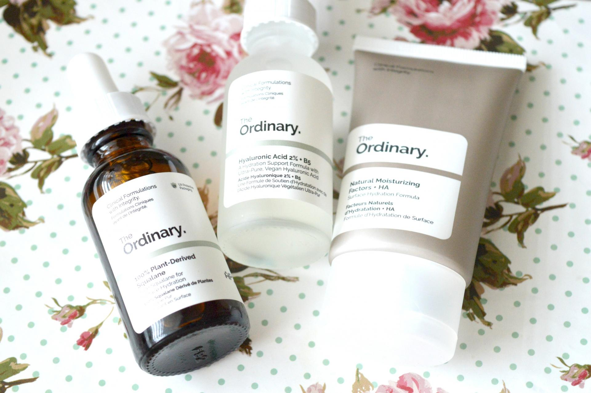 Is The Ordinary Skincare Range Really That Good? The Ordinary Hyaluronic Acid 2% + B5, The Ordinary 100% Plant-Derived Squalane and The Ordinary Natural Moisturising Factors + HA