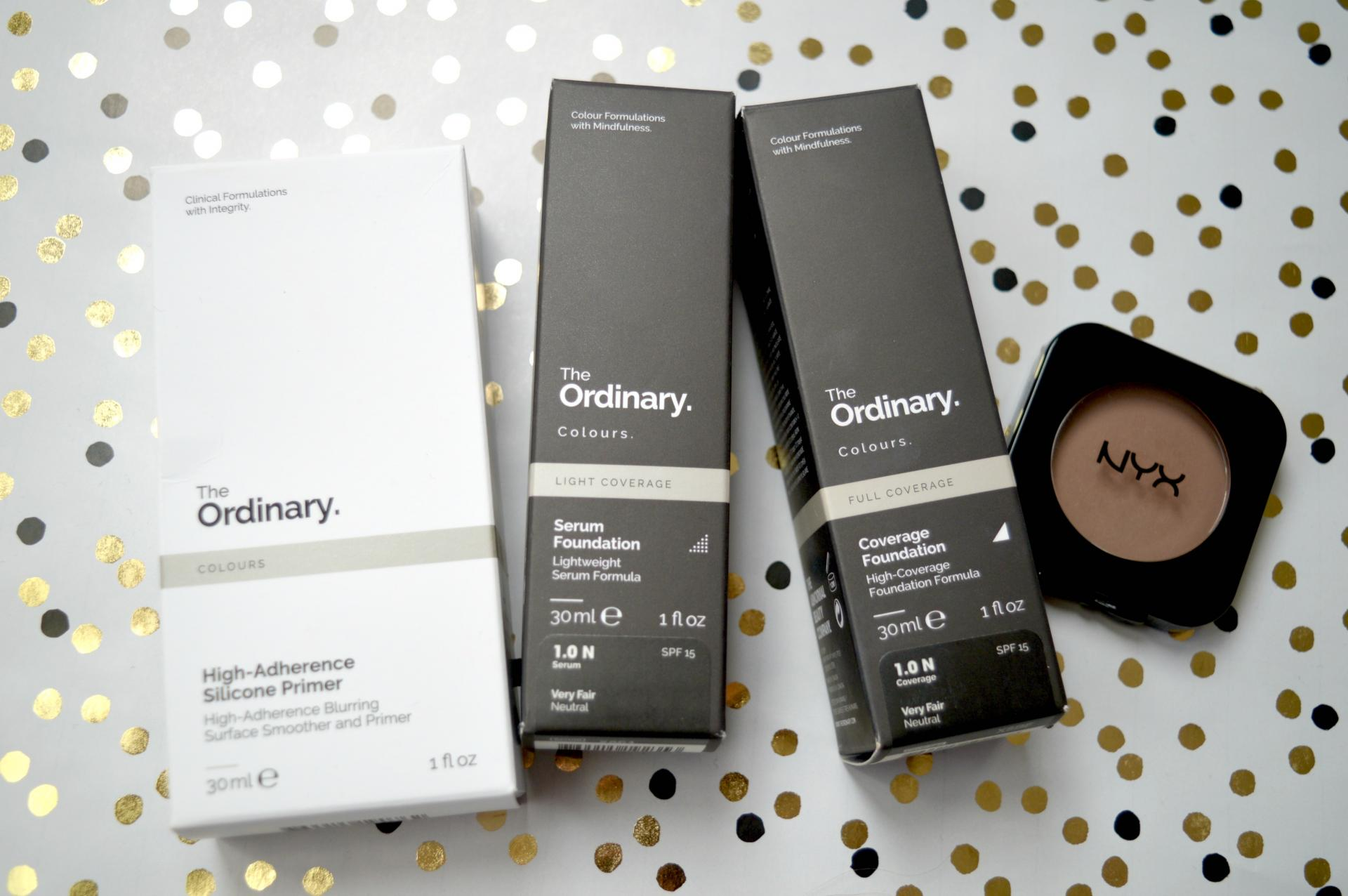 4 Awesome Products I Picked Up From Cult Beauty | The Ordinary High-Adherence Silicone Primer, The Ordinary Colours Serum Foundation, The Ordinary Colours Coverage Foundation and NYX Blush in Taupe