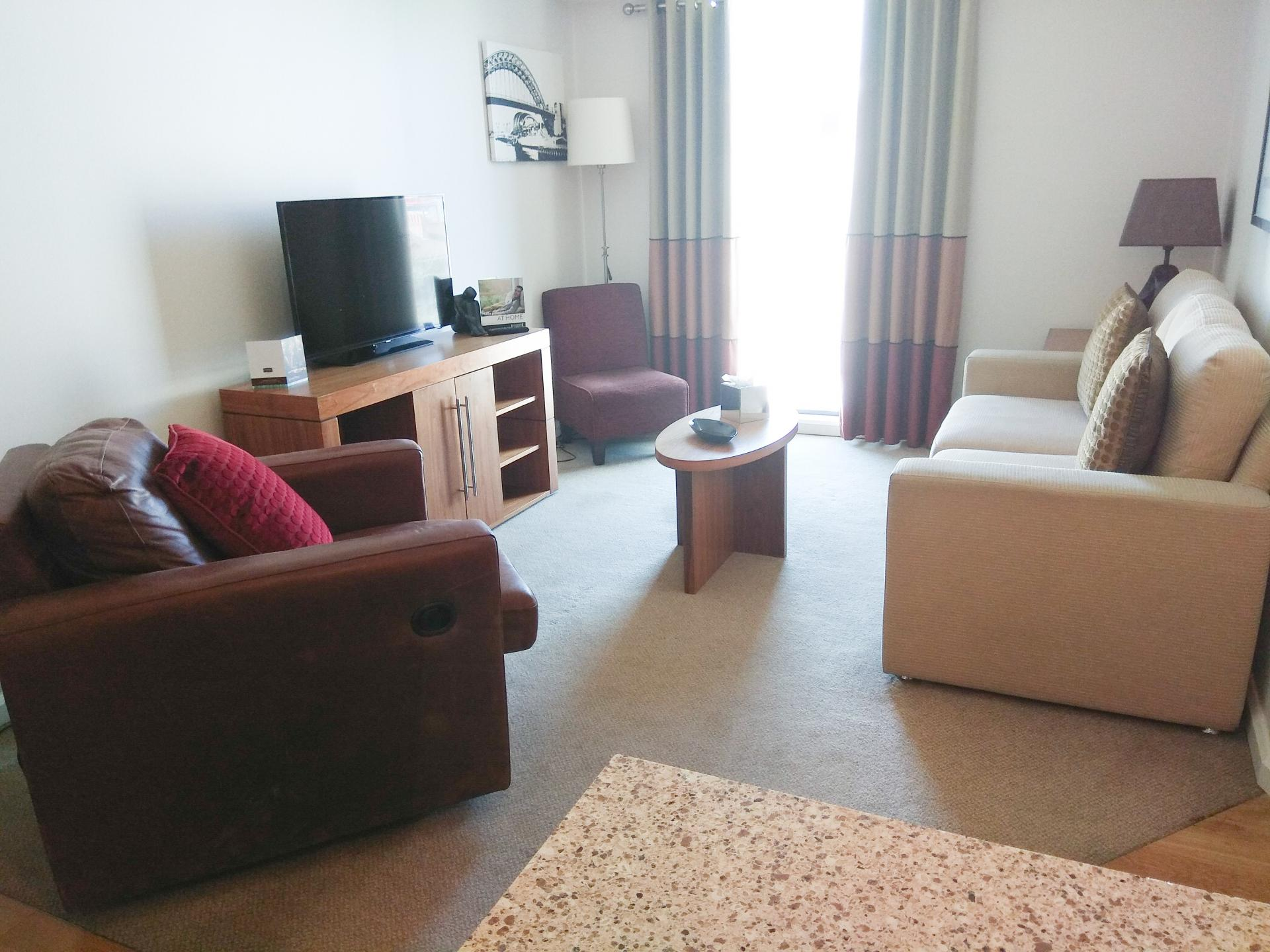 Staybridge Suites Newcastle Living Room Area