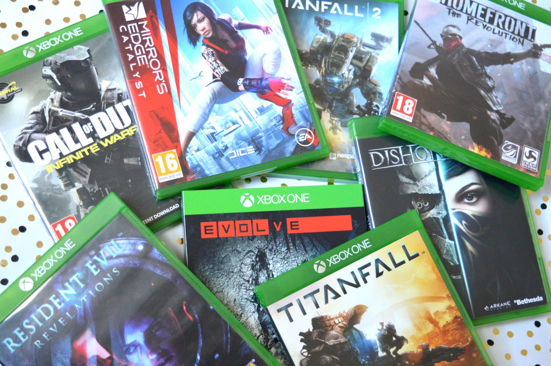 8 Super Affordable Games I Got From The Game Collection - Titanfall, Titanfall 2, Evolve, Homefront The Revolution, Mirror's Edge Catalyst, Call Of Duty Infinite Warfare, Dishonoured 2 and Resident Evil Revelations
