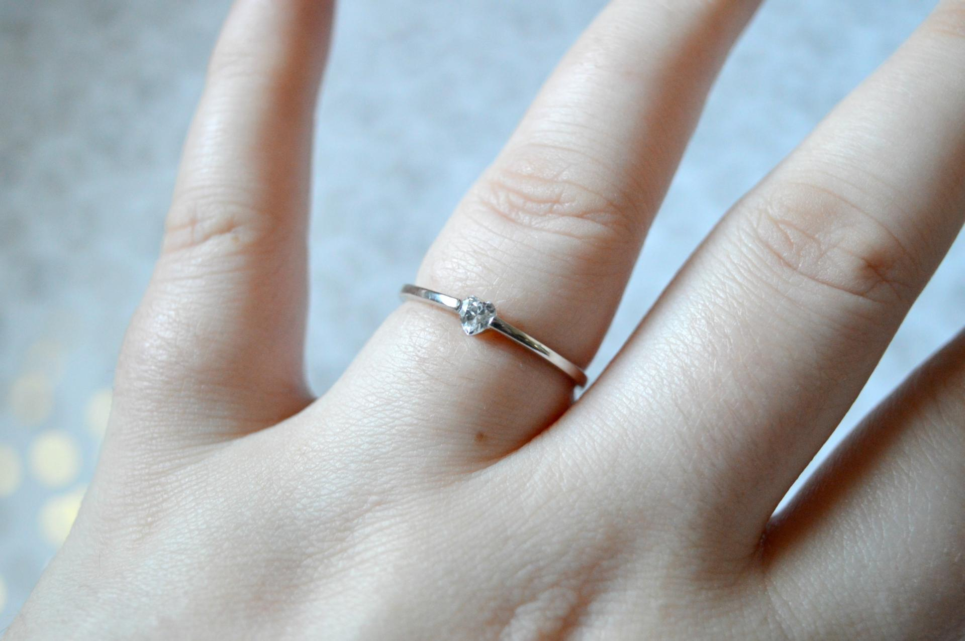 bamoer Simple Heart Ring from AliExpress